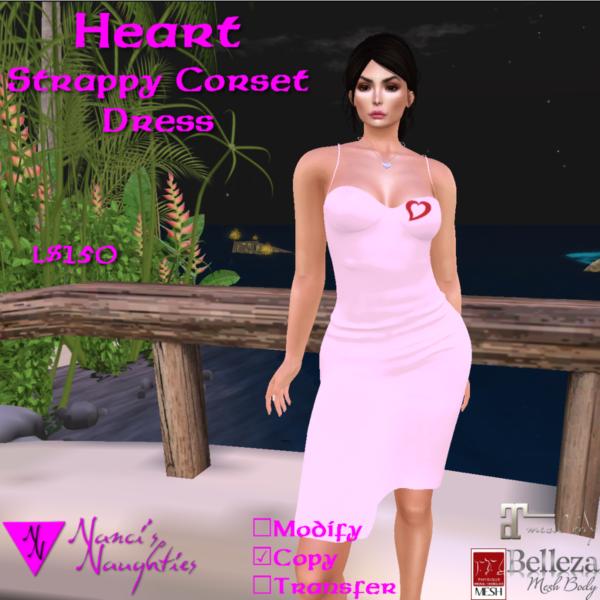 NN Heart Strappy Corset Dress ad